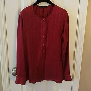 Gucci Burgundy red silk blouse snakeskin print